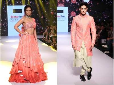 Hina-Priyank dazzle at the BT fashion week