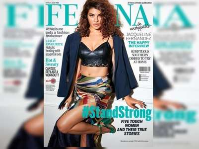 Jacqueline sizzles on the cover of Femina