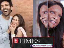 Here's how Sara Ali Khan made Kartik Aaryan blush in public; Deepika Padukone's first look in 'Chhapaak' out, and more…