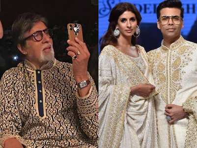 Watch: Big B takes a video of his daughter