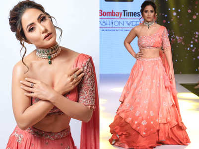 Hina Khan's lehenga-choli avatar is ruling the internet