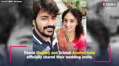 Pearle Maaney and Srinish Aravind confirm their wedding dates