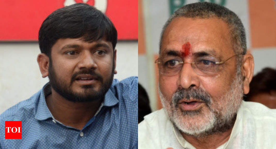 Giriraj's reluctance to contest from Begusarai comparable to kids' refusal to attend school: Kanhaiya