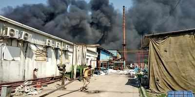 Plastic factory gutted, 2 injured fighting blaze | Noida