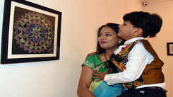 Five-year-old Jaipur boy Vihaan puts up his solo exhibition on mandala art