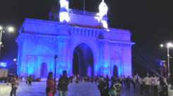 Gateway of India is all lit up in blue for World Autism Awareness Day