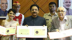 Maha Guv C Vidyasagar Rao unveils a stamp for work done for cancer patients