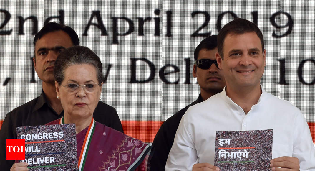 CONGRESS MANIFESTO: Lok Sabha 2019: Full manifesto released