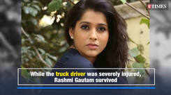TV host Rashmi Gautam's car hits a man; blames the bystanders for not helping them