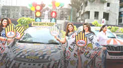 600 women get out with their cars to propagate empowerment and road safety