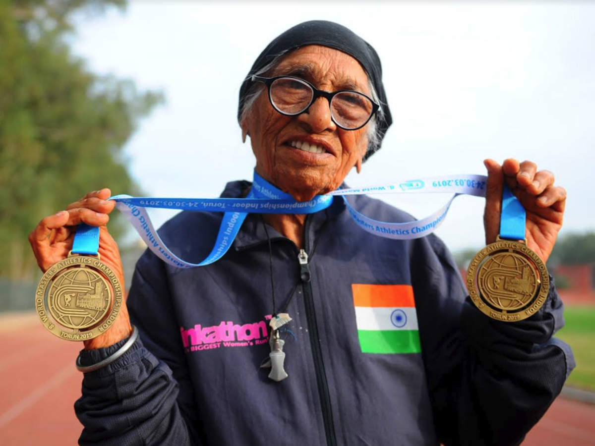 103 not out, Chandigarh's Man Kaur returns with four gold medals from  Poland   More sports News - Times of India