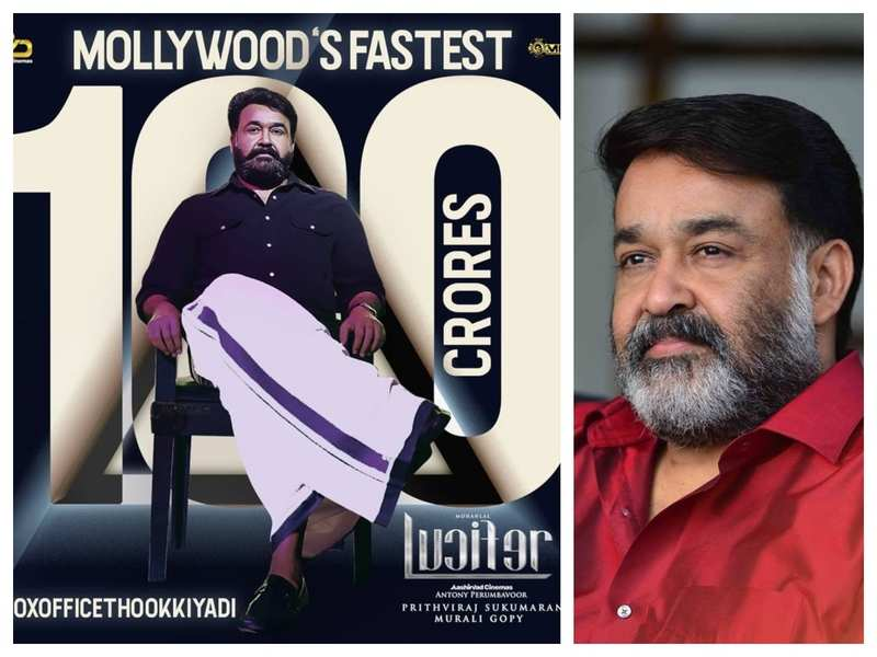 Mohanlal is overwhelmed as Lucifer hits Rs 100 crore mark in 8 days