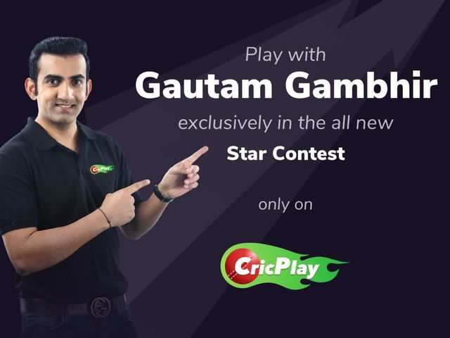 Now, play cricket online with Gautam Gambhir on CricPlay