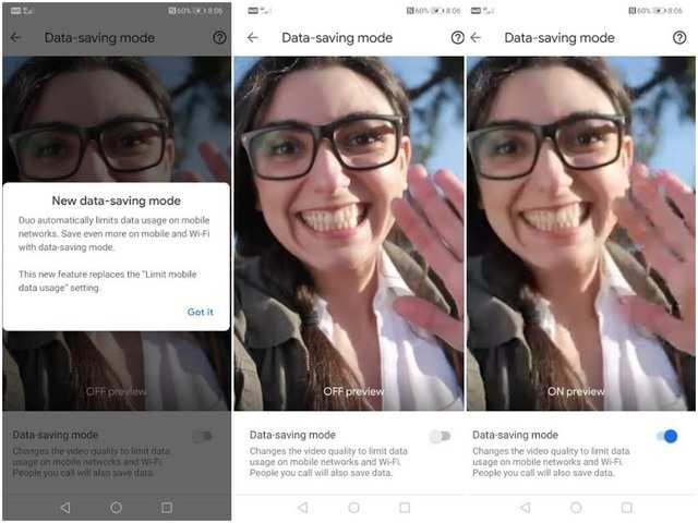 Google Duo gets a new data saving feature