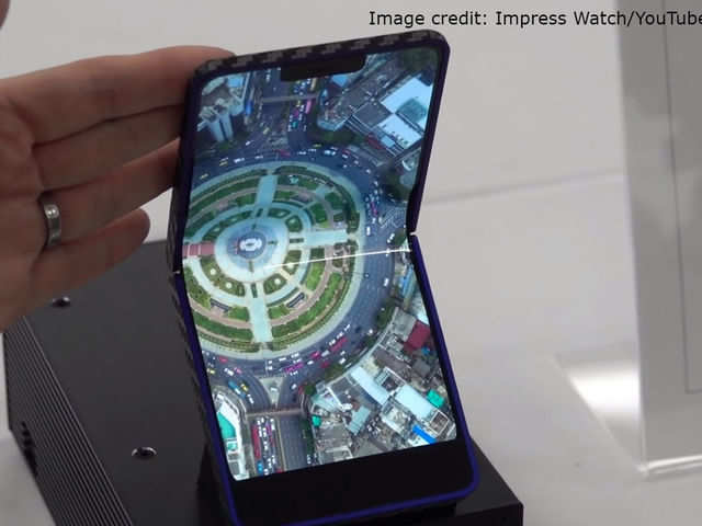 Watch: Sharp's 'first ever' clamshell foldable smartphone