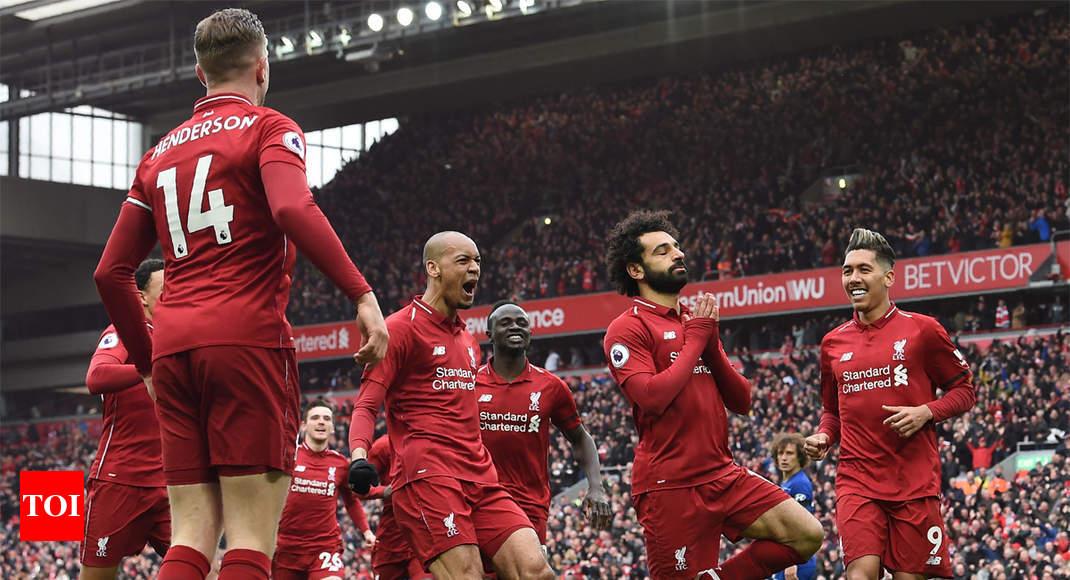 EPL: Liverpool back on top as Salah stunner kills off Chelsea