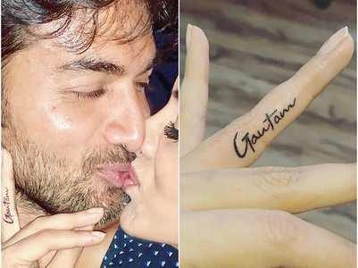 Smriti gets her husband's name inked