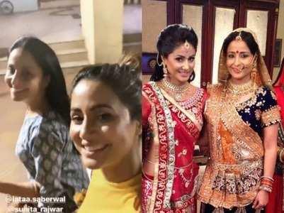 Hina Khan meets 'Yeh Rishta...' co-stars