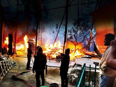 Fire on the set of Paramavatar Shri Krishna