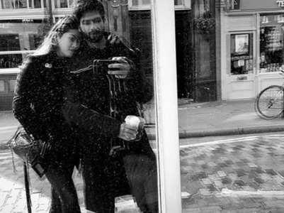 Shahid-Mira's monochrome mirror selfie