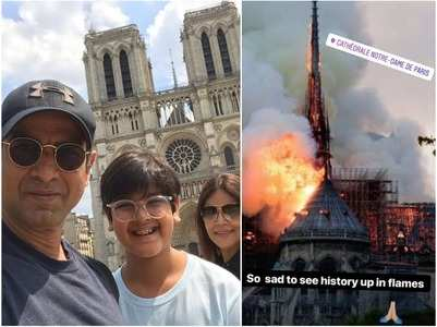 TV celebs react to Notre Dame fire