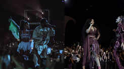 Ariana Grande performs with NSYNC at Coachella 2019
