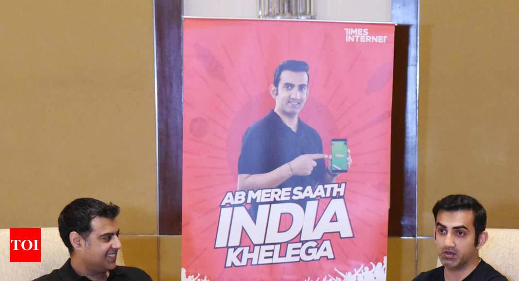 Gautam Gambhir associates with gaming app CricPlay   Cricket News