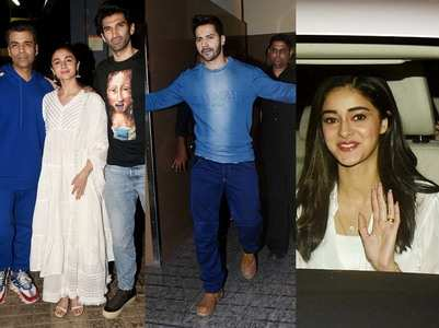 Pics: Celebs attend the screening of 'Kalank'