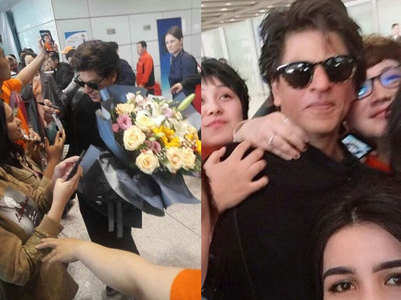 Watch: SRK in China for 'Zero' screening