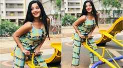 'Nazar' actress Monalisa looks phenomenal as she enjoys her playtime