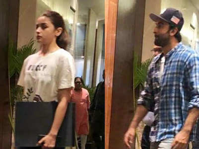 Spotted! Alia back to work with Ranbir
