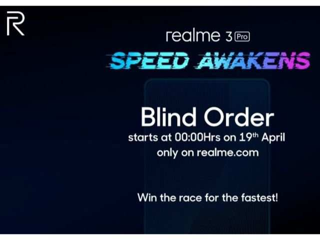 Realme 3 Pro pre-order begins on April 19 at 12am