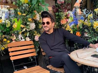 Anil Kapoor on the sets of 'Pagalpanti'