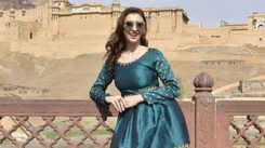 History lessons for actress-model Claudia in Jaipur