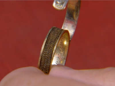 Ring with Brontë's hair found