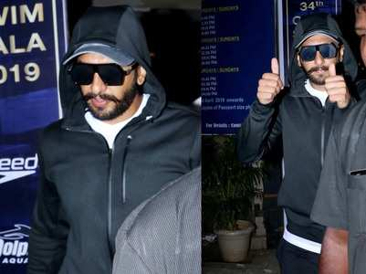Ranveer gets snapped as he arrives at a club