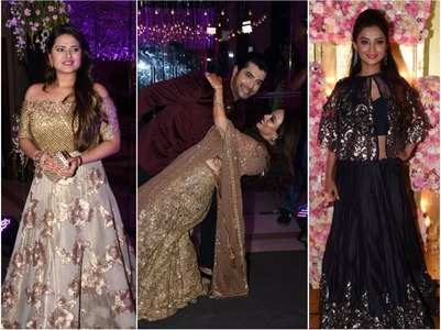 Ssharad-Ripci's sangeet: TV celebs attend