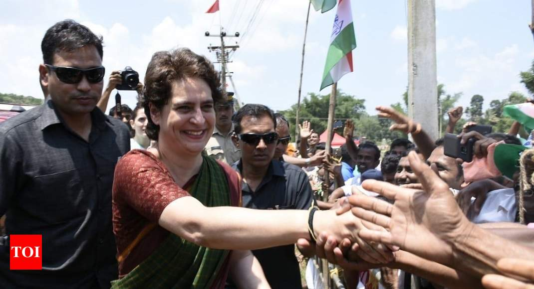 Priyanka attacks NDA govt; says it 'betrayed' people who voted it to power - Times of India