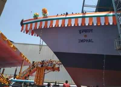 INS Imphal, the new guided-missile destroyer | India News - Times of