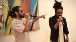 When rap music met art at an event in Mumbai