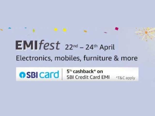 Amazon EMI Fest: Get up to Rs 1,500 cashback on mobiles, electronics and more