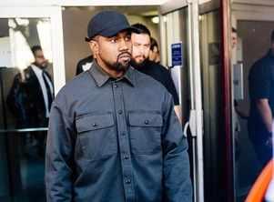 Kanye sells church clothes at Coachella