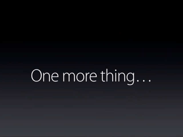 Apple's 'One more thing' is not Apple's anymore in this country