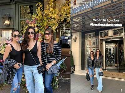 Pics: Kareena & Amrita take on London in style