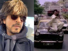Fan shares video of Shah Rukh Khan dancing on top of a car in 'Anjaam', the superstar has an interesting reply