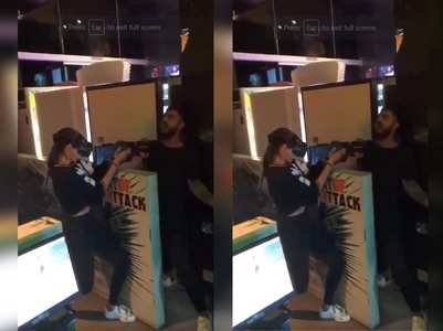Video: Anushka and Virat play laser tag