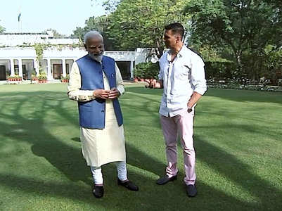 PM Modi's interactive interview with Akshay