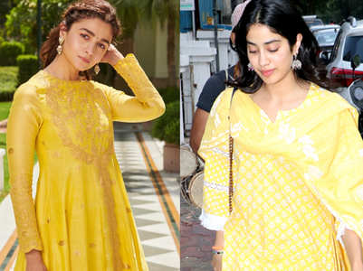 Alia,Janhvi prove yellow is colour of the season