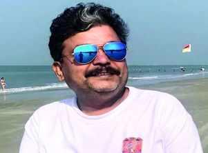 Yashavant Sirdeshpande readies a theatre space in Hubballi