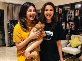 Parineeti Chopra turns Punjabi aunt for Priyanka Chopra's pet pooch; names him Bailey Chopra!